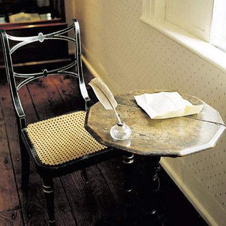Of course, when you can't meet them, you can go stand by the window where they sat and absorb the genius vibes, instead.  Jane Austen's writing table, Chawton.