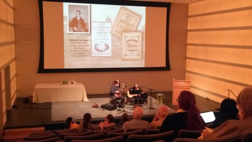 Jim and Maggi Dalton perform a selection of Celtic music and poetry at Mass Poetry Fest 2014