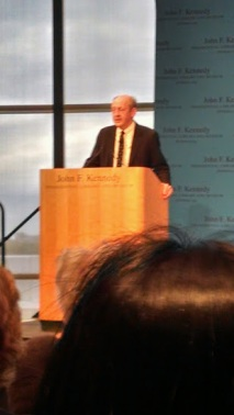 Billy Collins reads at the JFK Library, May 2014