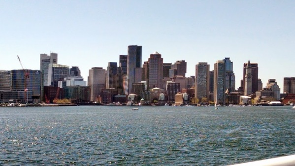 Boston from the harbor. Photo by Meg Winikates.