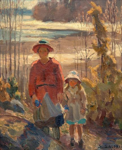 Don't these two look ready for a quest?  (Santeri Salokivi Mother and child, 1922. Image from Wikimedia Commons.)