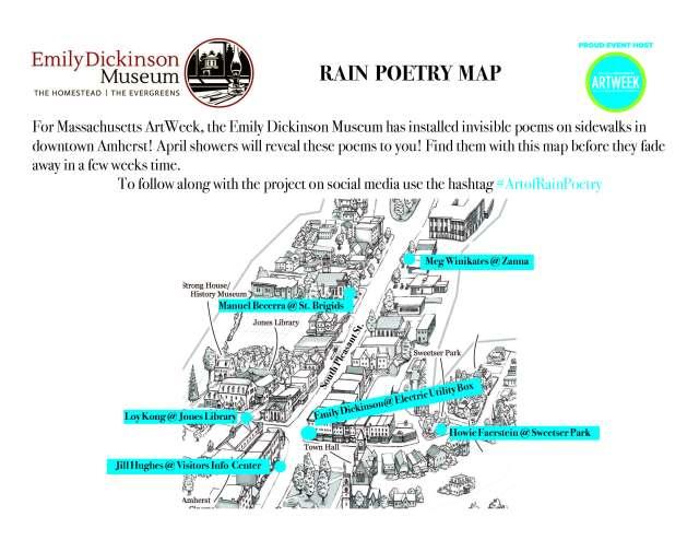 Rain poem map